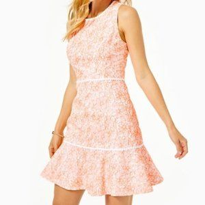 NWT Lilly Pulitzer Ellen Floral Flounce Dress 16